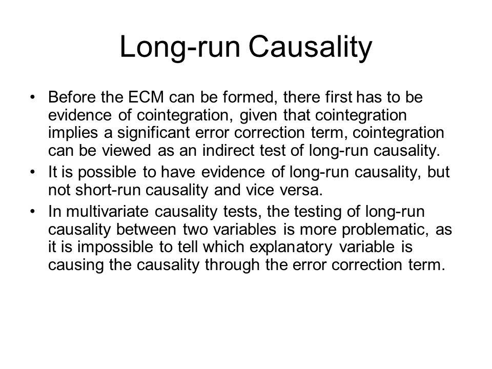 Long-run Causality