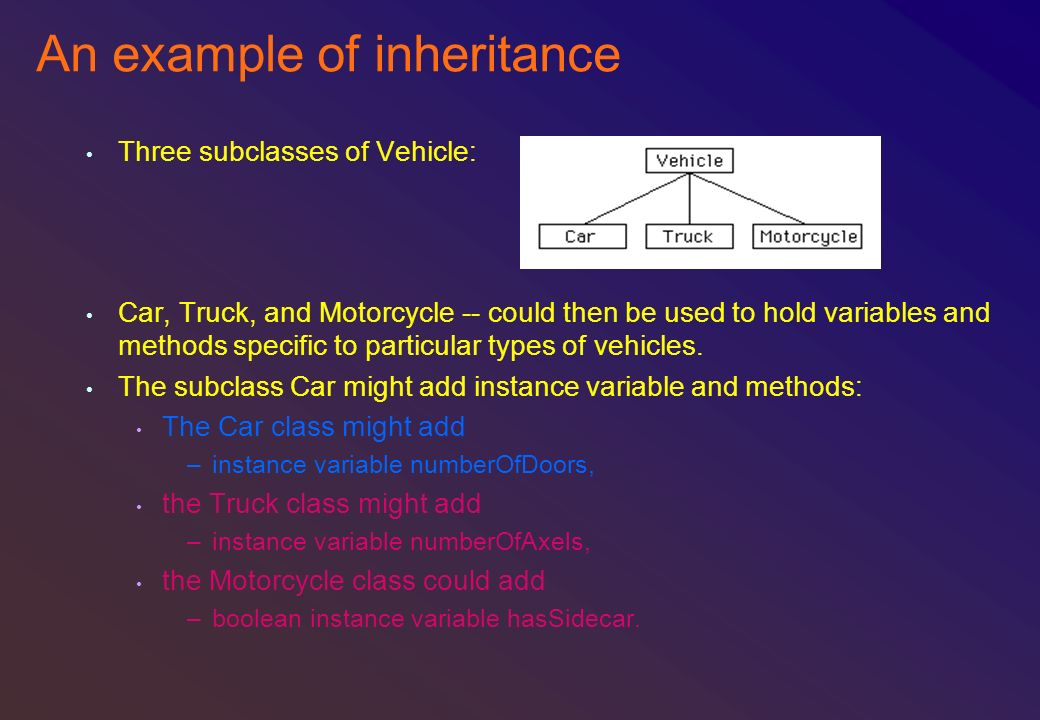 An example of inheritance