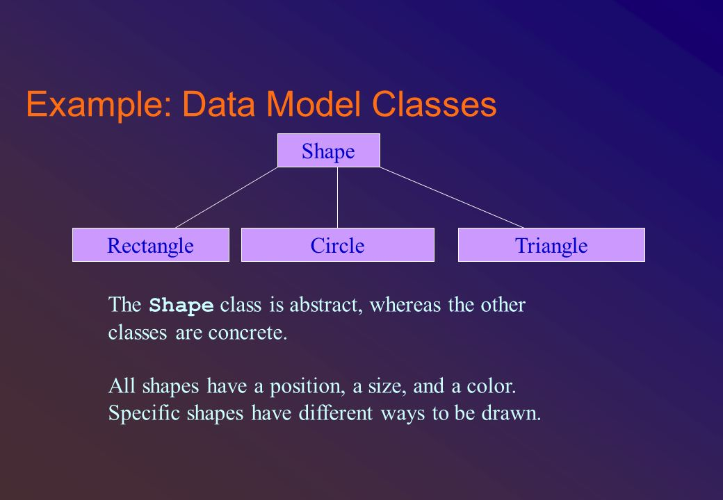 Example: Data Model Classes