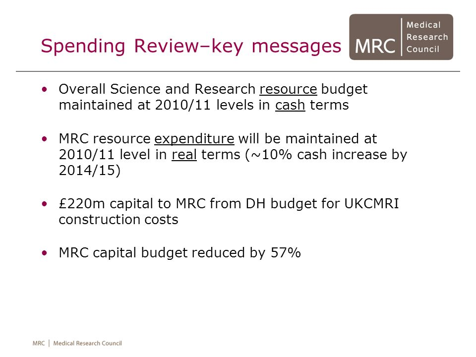 Spending Review–key messages