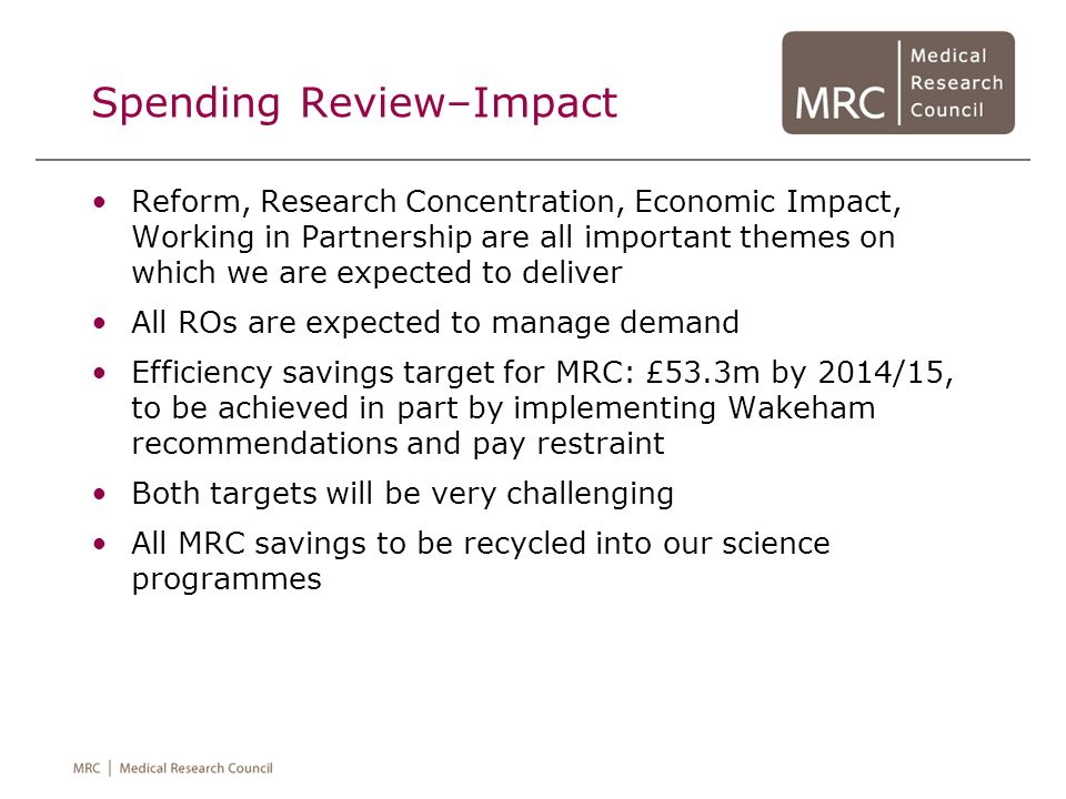 Spending Review–Impact