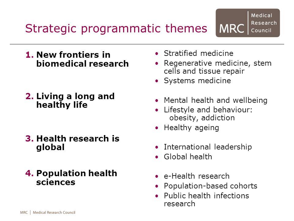 Strategic programmatic themes