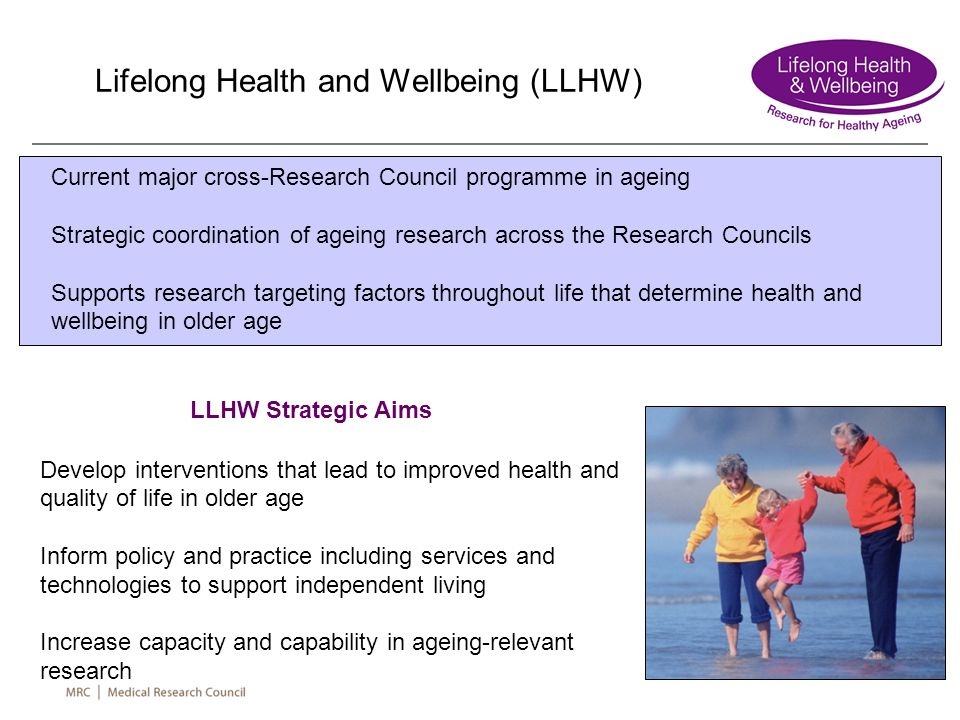Lifelong Health and Wellbeing (LLHW)