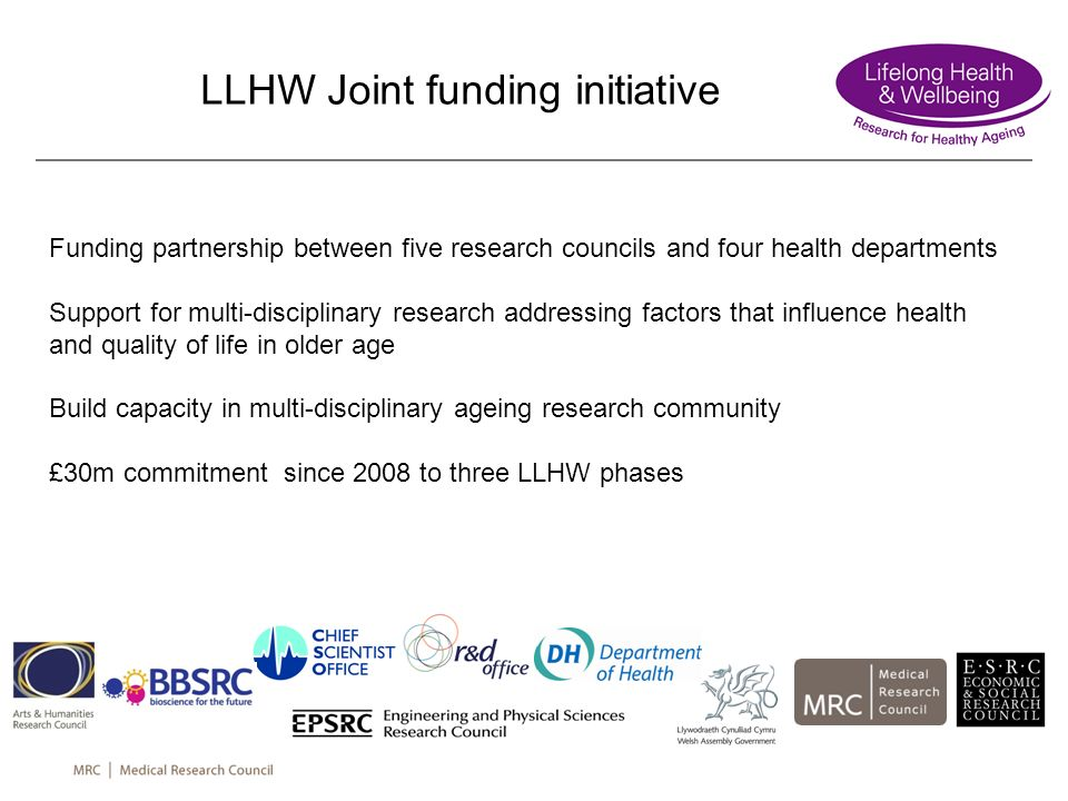 LLHW Joint funding initiative