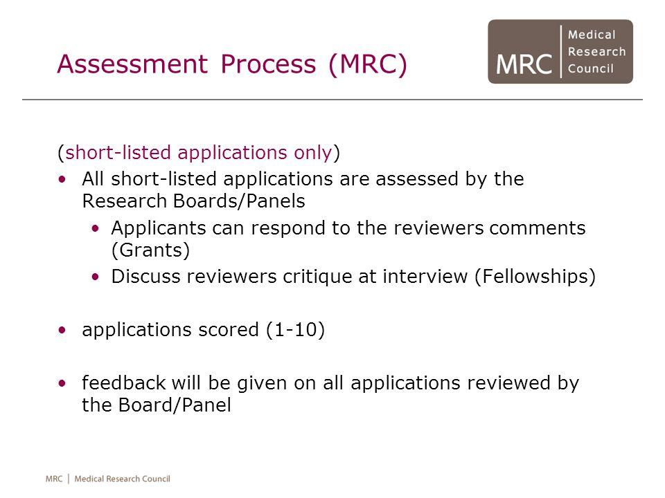 Assessment Process (MRC)