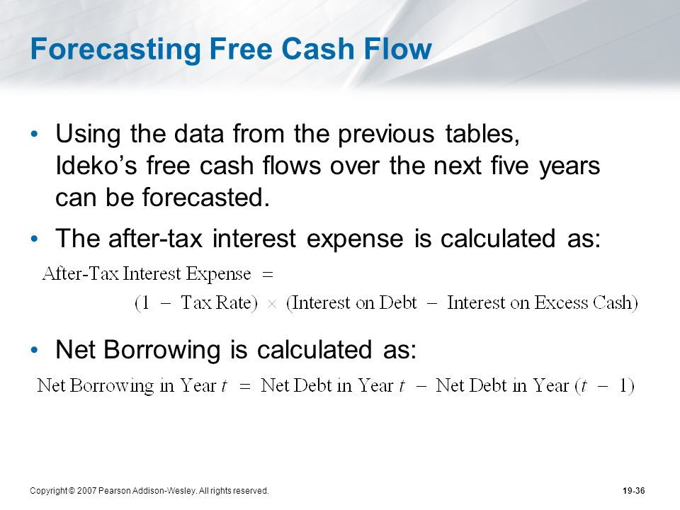 Forecasting Free Cash Flow