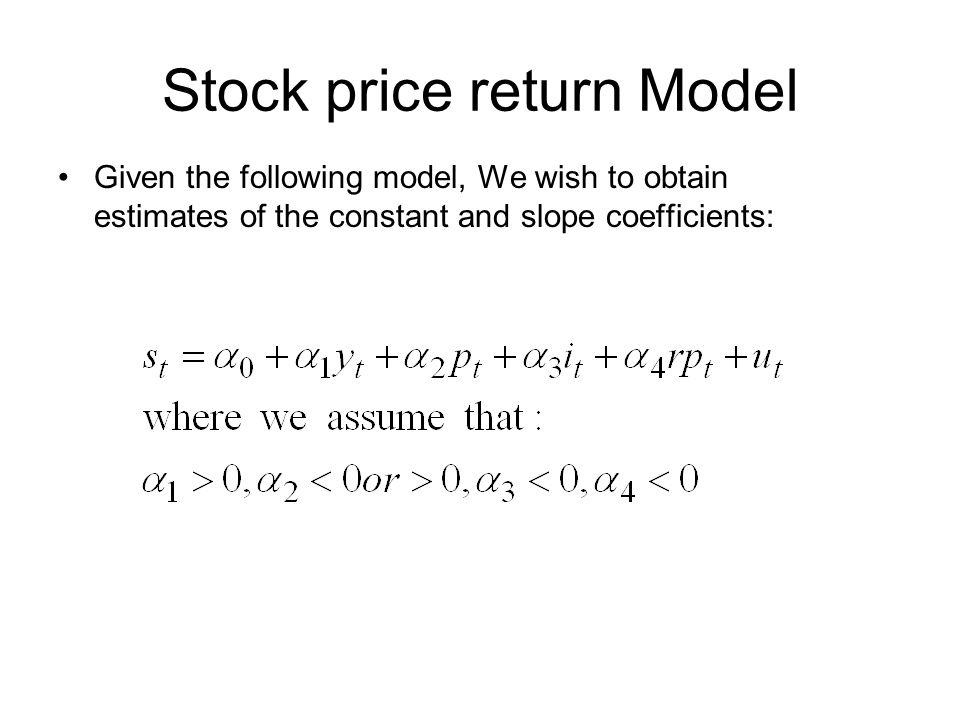 Stock price return Model