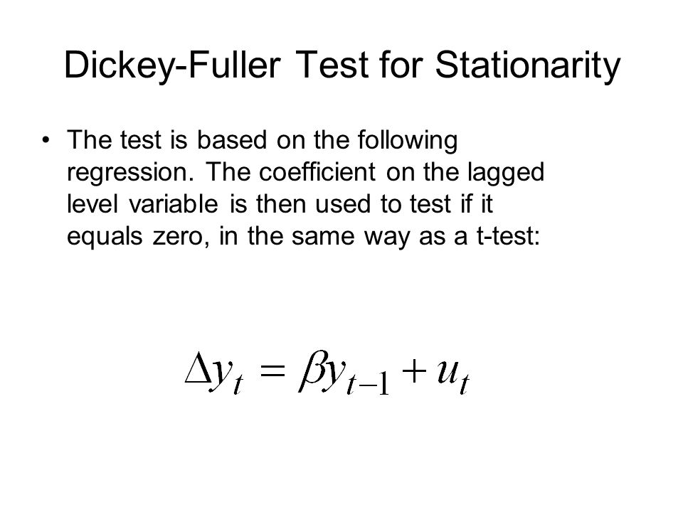 Dickey-Fuller Test for Stationarity