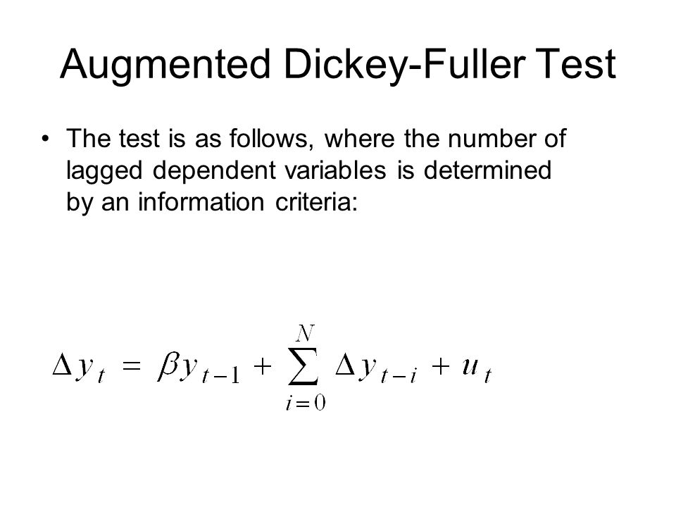 Augmented Dickey-Fuller Test