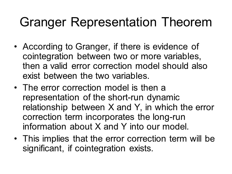 Granger Representation Theorem