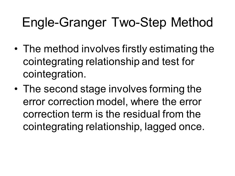 Engle-Granger Two-Step Method