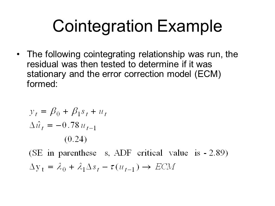 Cointegration Example