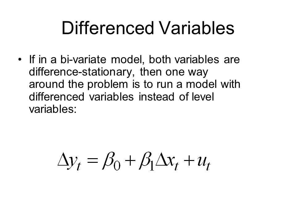 Differenced Variables