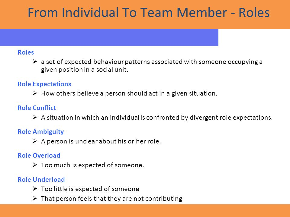 team members role essay The important thing to recognize is that it takes a team, and the team ought to get   shared leadership, consensus decisions, and clear roles & tasks assignment   teamwork happens when members of a group or team, work.