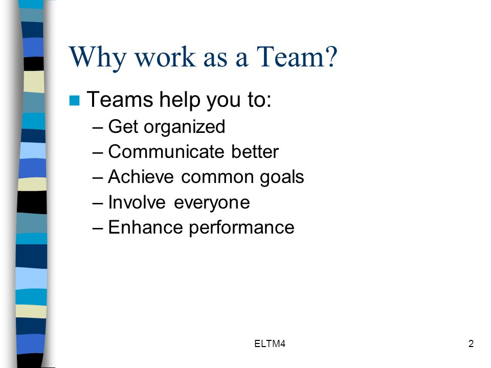 why teamwork is difficult to achieve If you don't know what needs to be done, and by when, it's quite hard to make it  happen by your deadline shapers, implementers and completer-finishers are.