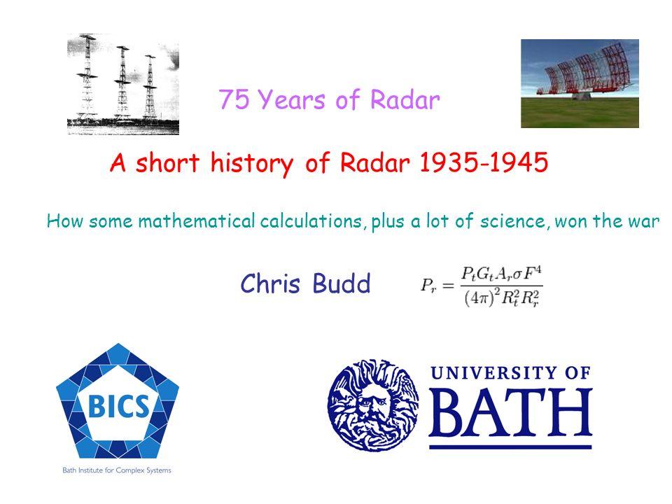A short history of Radar 1935-1945