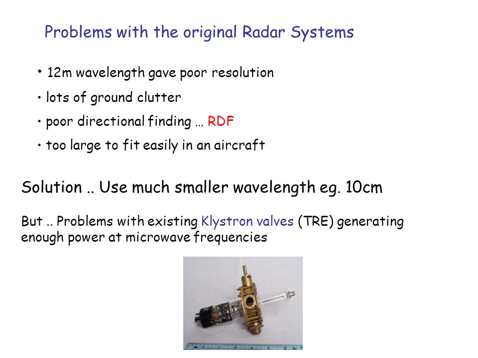 Problems with the original Radar Systems