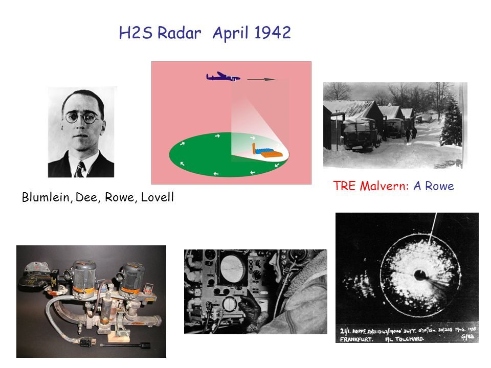 H2S Radar April 1942 Blumlein, Dee, Rowe, Lovell TRE Malvern: A Rowe