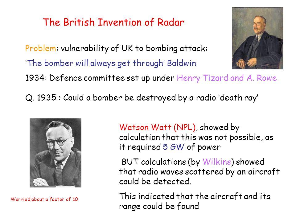 The British Invention of Radar