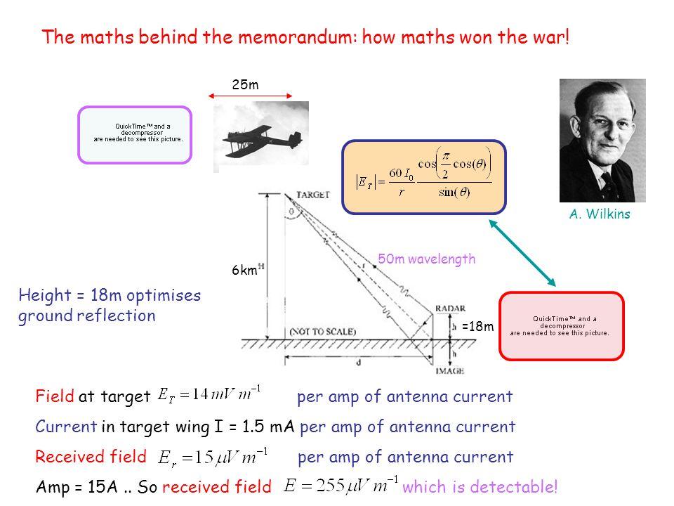 The maths behind the memorandum: how maths won the war!