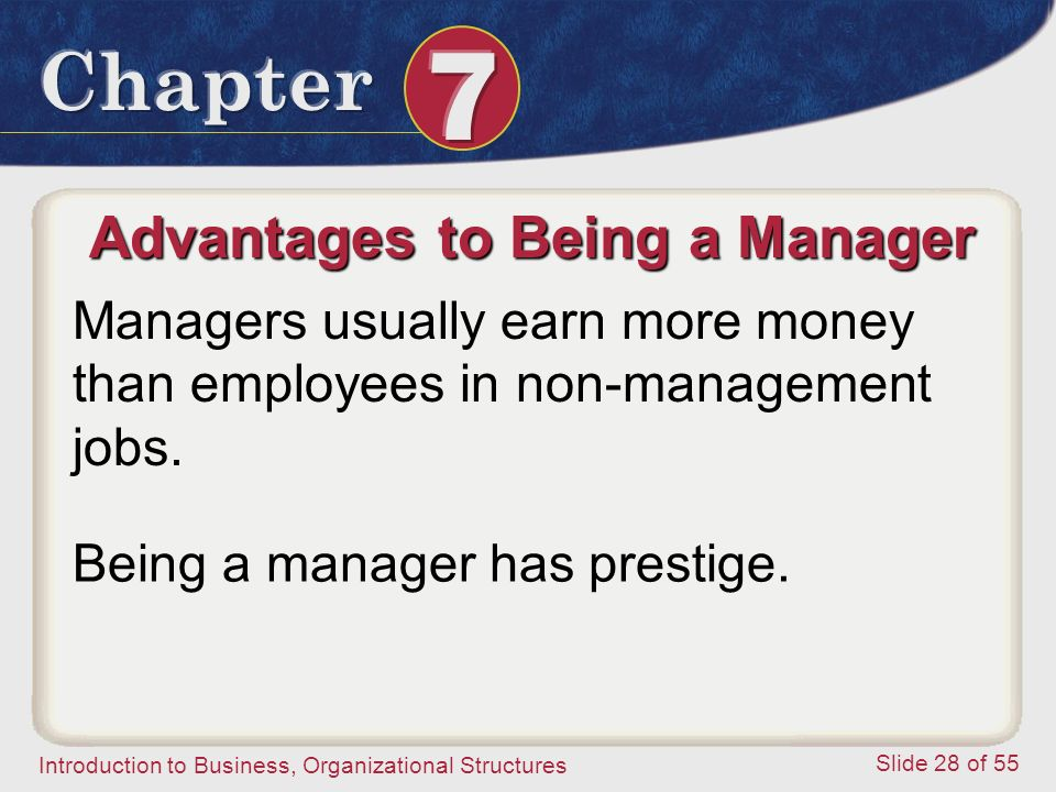 Advantages to Being a Manager