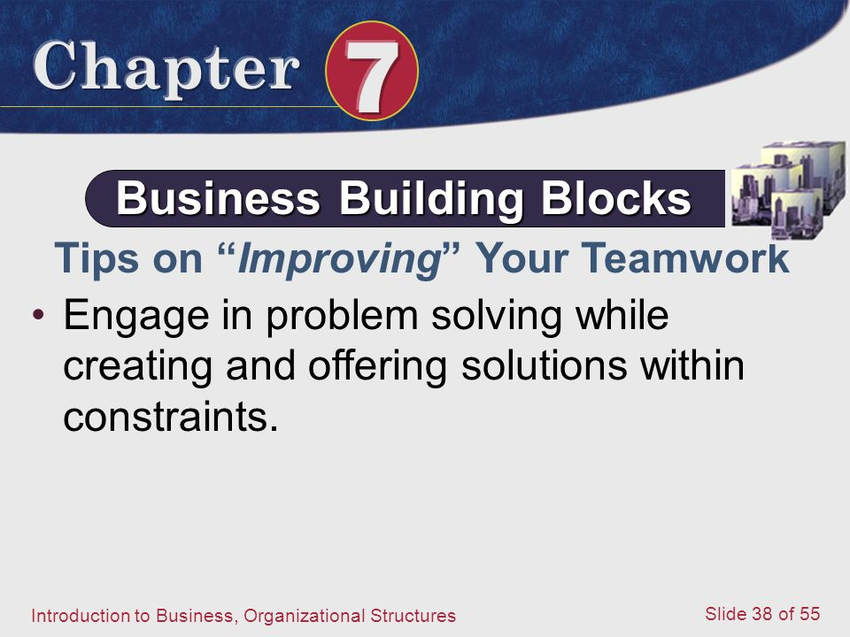 Business Building Blocks Tips on Improving Your Teamwork