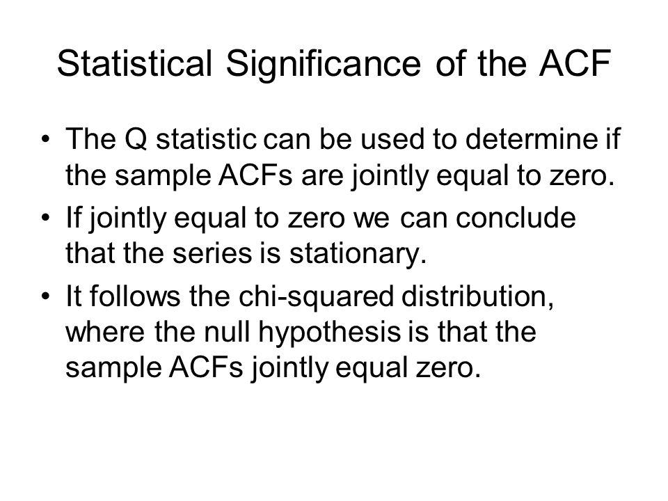Statistical Significance of the ACF