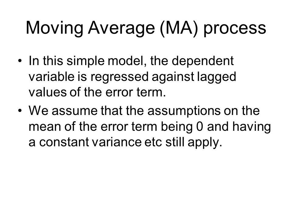 Moving Average (MA) process