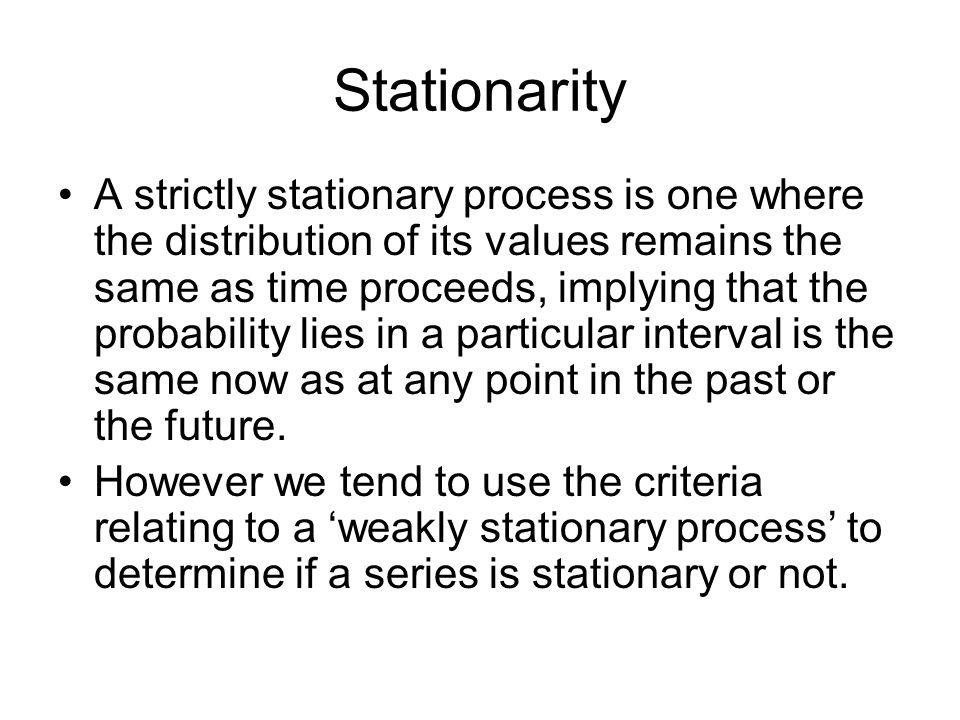 Stationarity