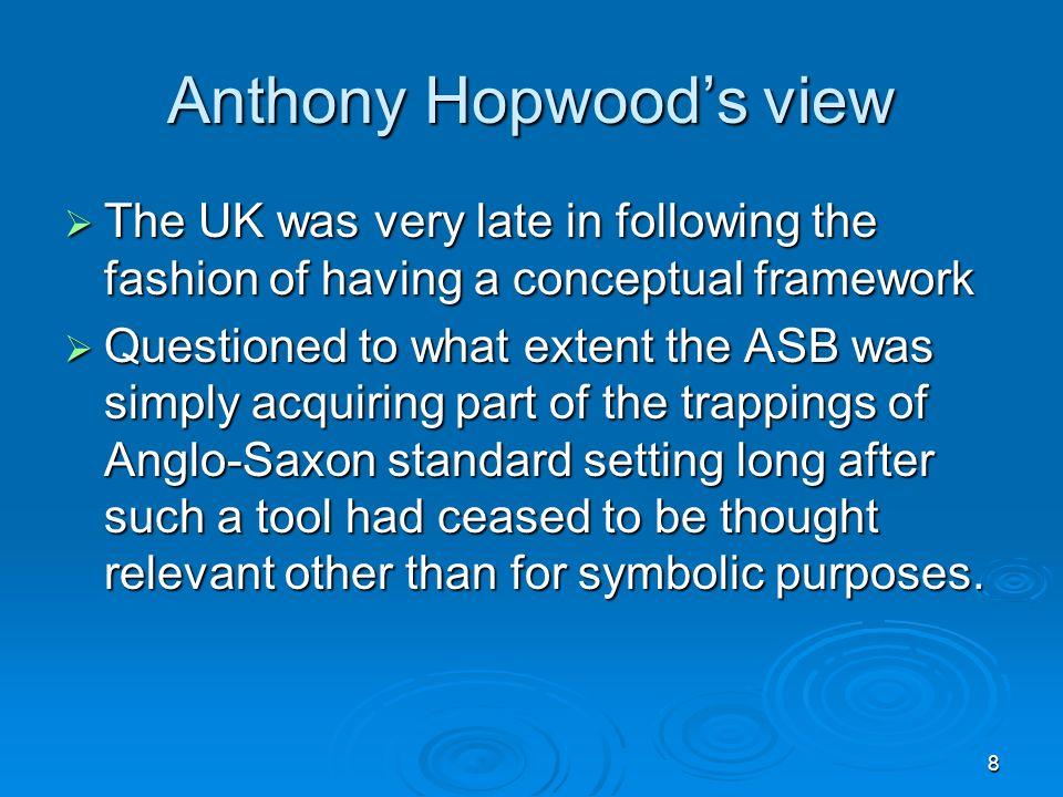 Anthony Hopwood's view