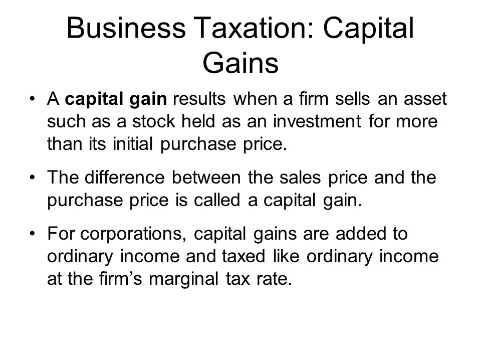 taxation asset and capital gain To correctly arrive at your net capital gain or loss, capital gains and losses are classified as long-term or short-term generally, if you hold the asset for more than one year before you.