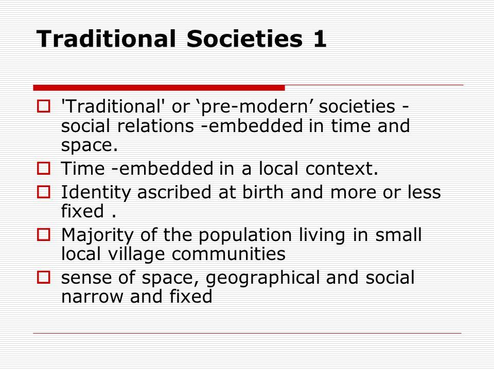 Traditional Societies 1