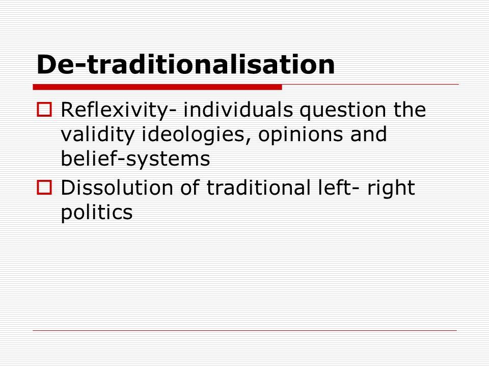 De-traditionalisation