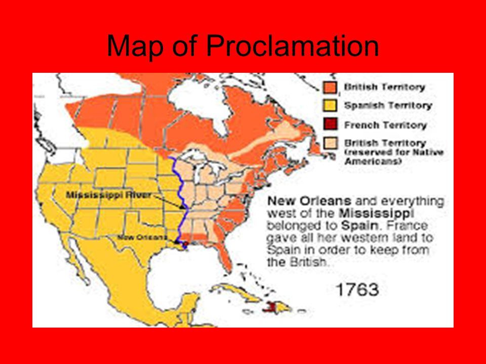 Map of Proclamation