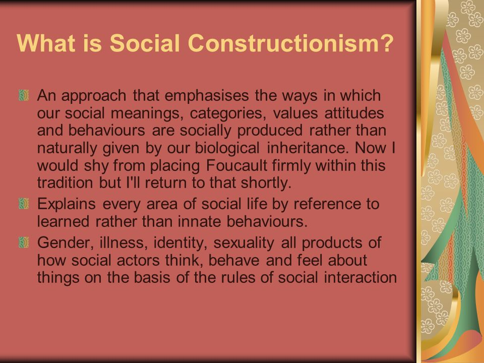 an analysis of sexuality through essentialism and social constructionism While the text is broadly sympathetic to social constructionism analysis, and personal role seen sense sexual social construction social interaction.