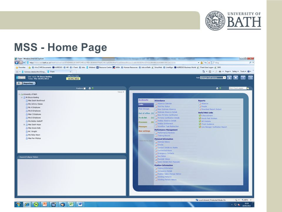 MSS - Home Page