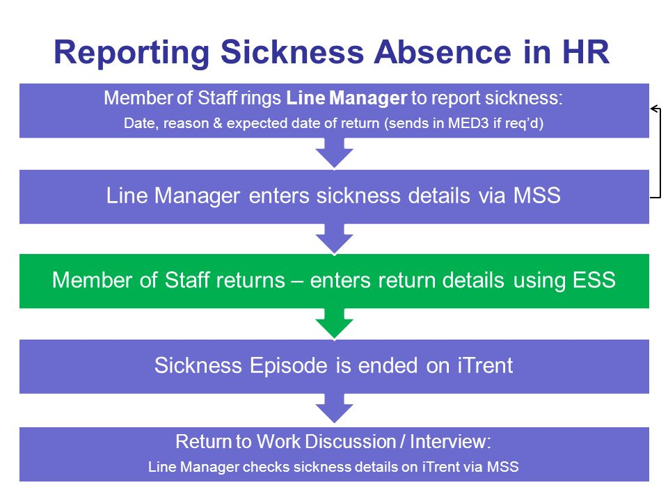 Reporting Sickness Absence in HR