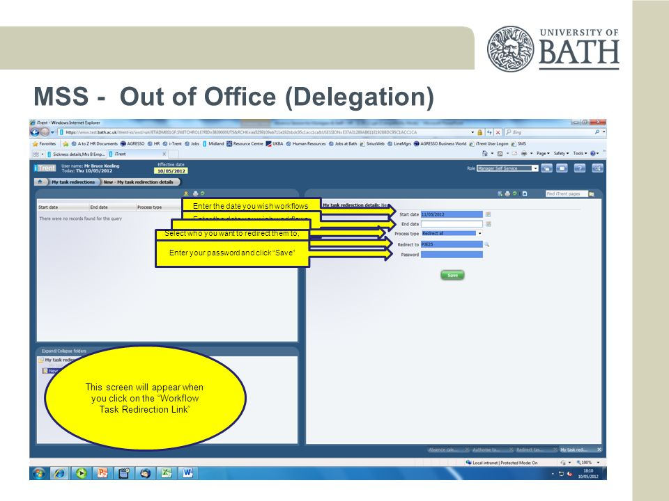 MSS - Out of Office (Delegation)