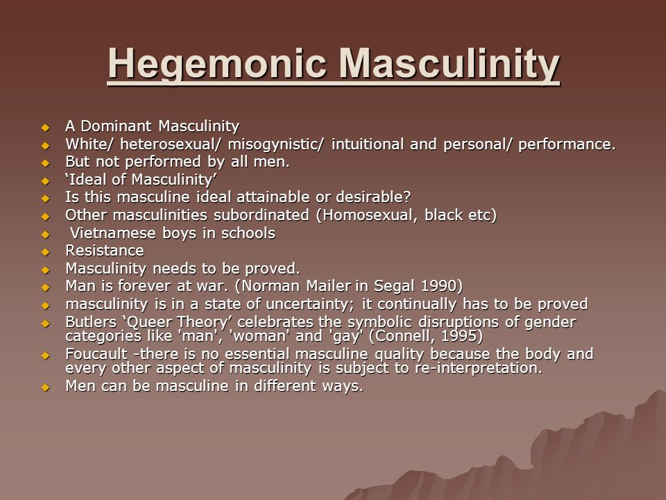 an analysis of gender hegemony in society Aims & an analysis of gender hegemony in society scope w.