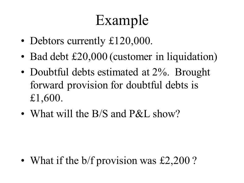 p and l example