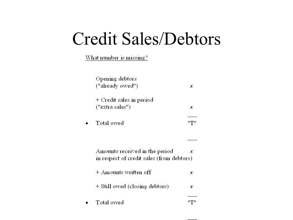 Credit Sales/Debtors