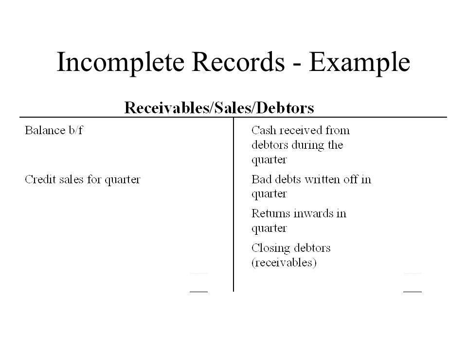 incomplete records You could have a separate table for works in progress you would use more or less the same table scheme, just with each field set as nullable when a record is initially created, it goes into the incomplete records table (you could have a check to put first time completed records directly into your completed records table,.