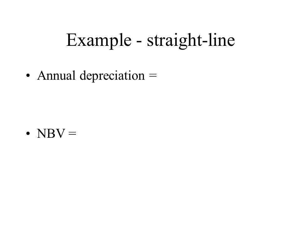 Example - straight-line