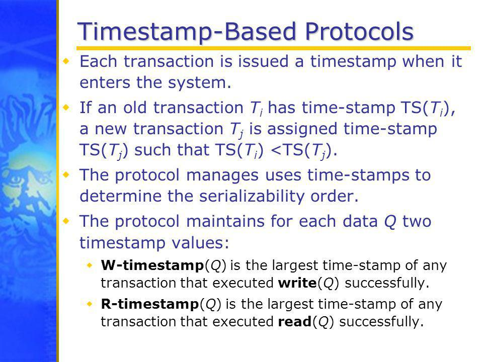 Timestamp-Based Protocols