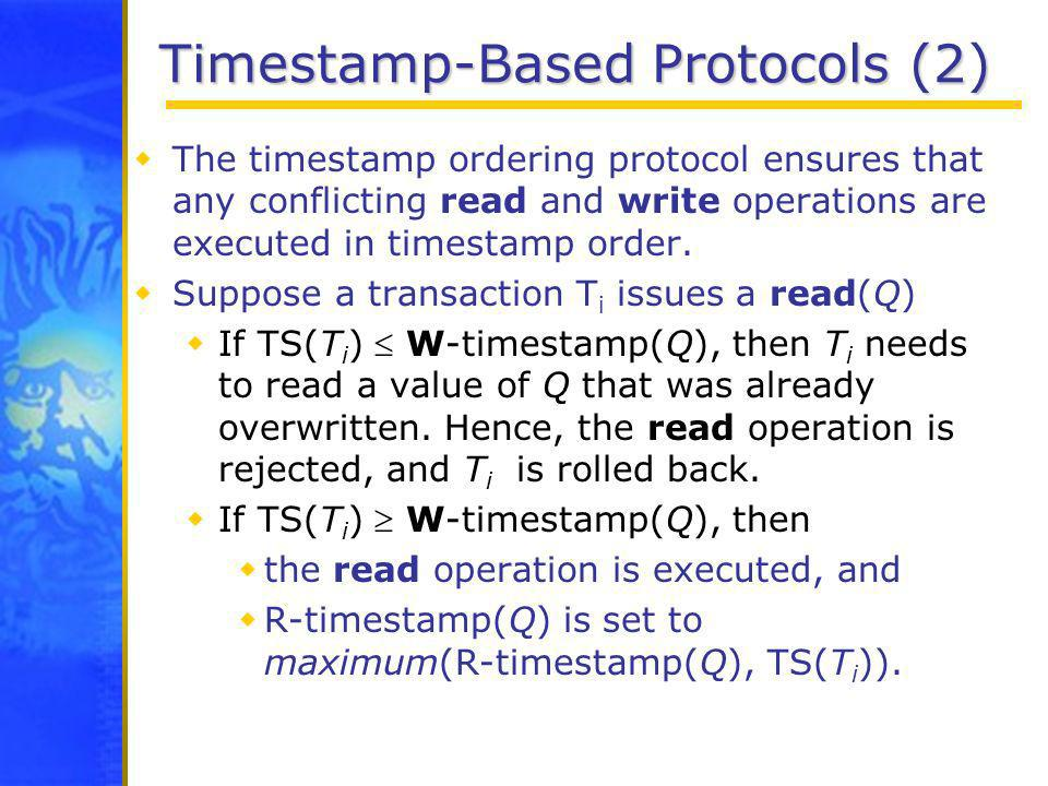 Timestamp-Based Protocols (2)
