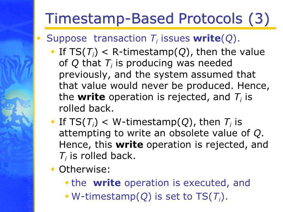 Timestamp-Based Protocols (3)