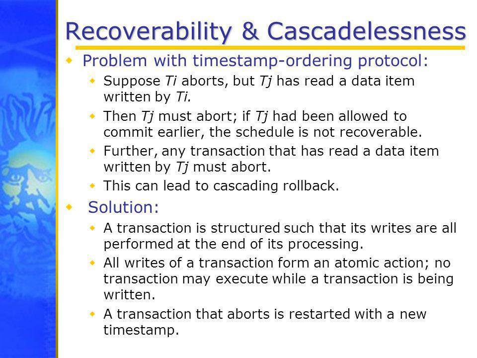 Recoverability & Cascadelessness