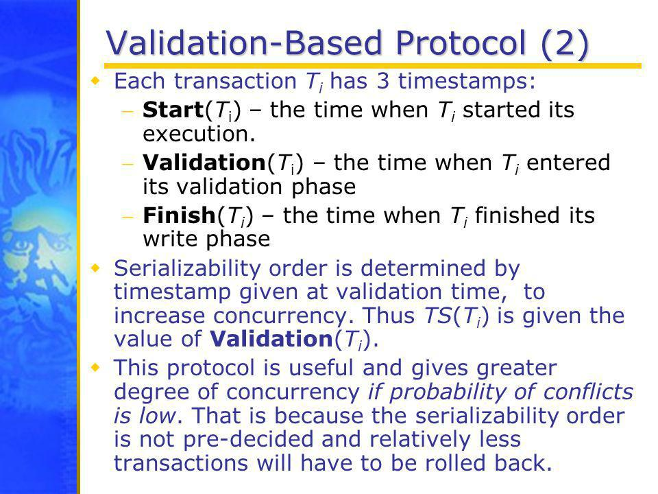 Validation-Based Protocol (2)