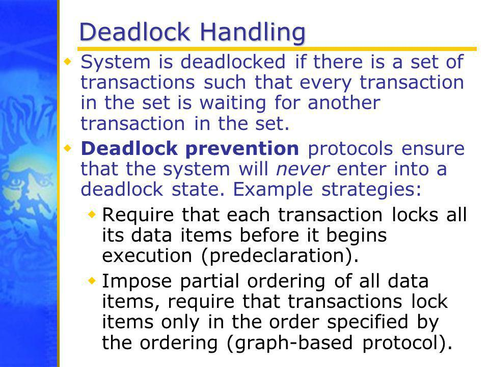 Deadlock Handling