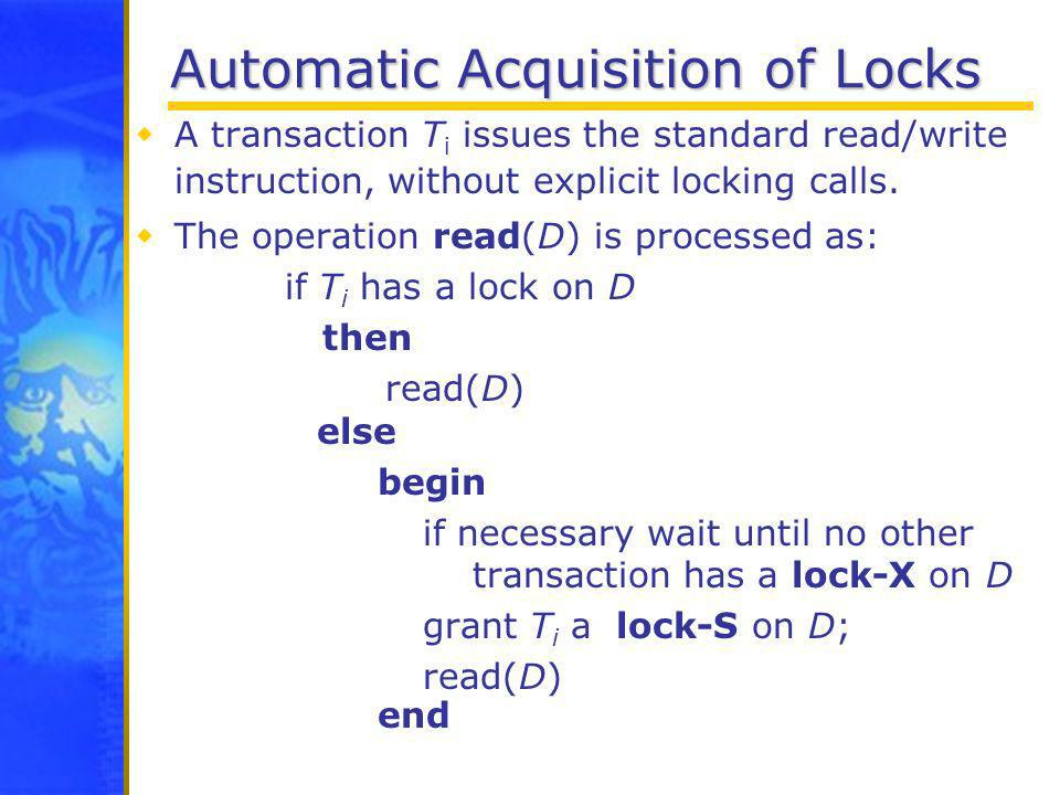 Automatic Acquisition of Locks